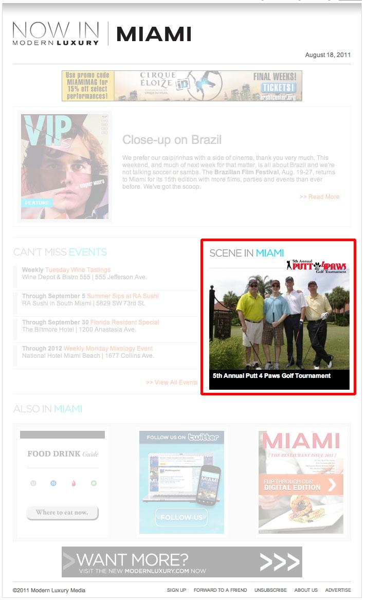 Miami magazine 8 18 11 putt 4 paws socialmiami com 8 16 11 putt 4 paws pinecrest tribune 6 6 11 pawareness pet fair