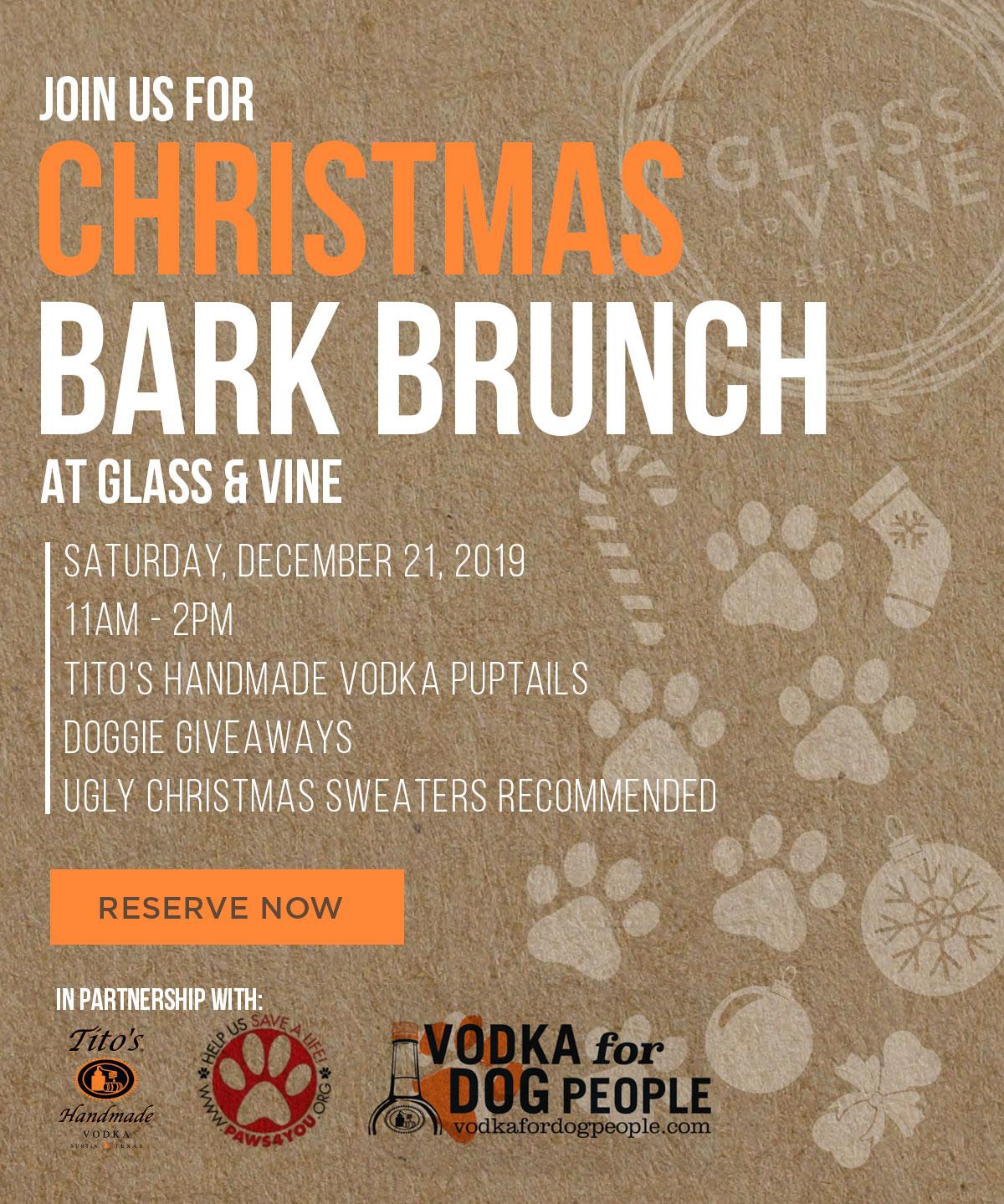 Christmas Bark Brunch at Glass & Vine @ Glass & Vine