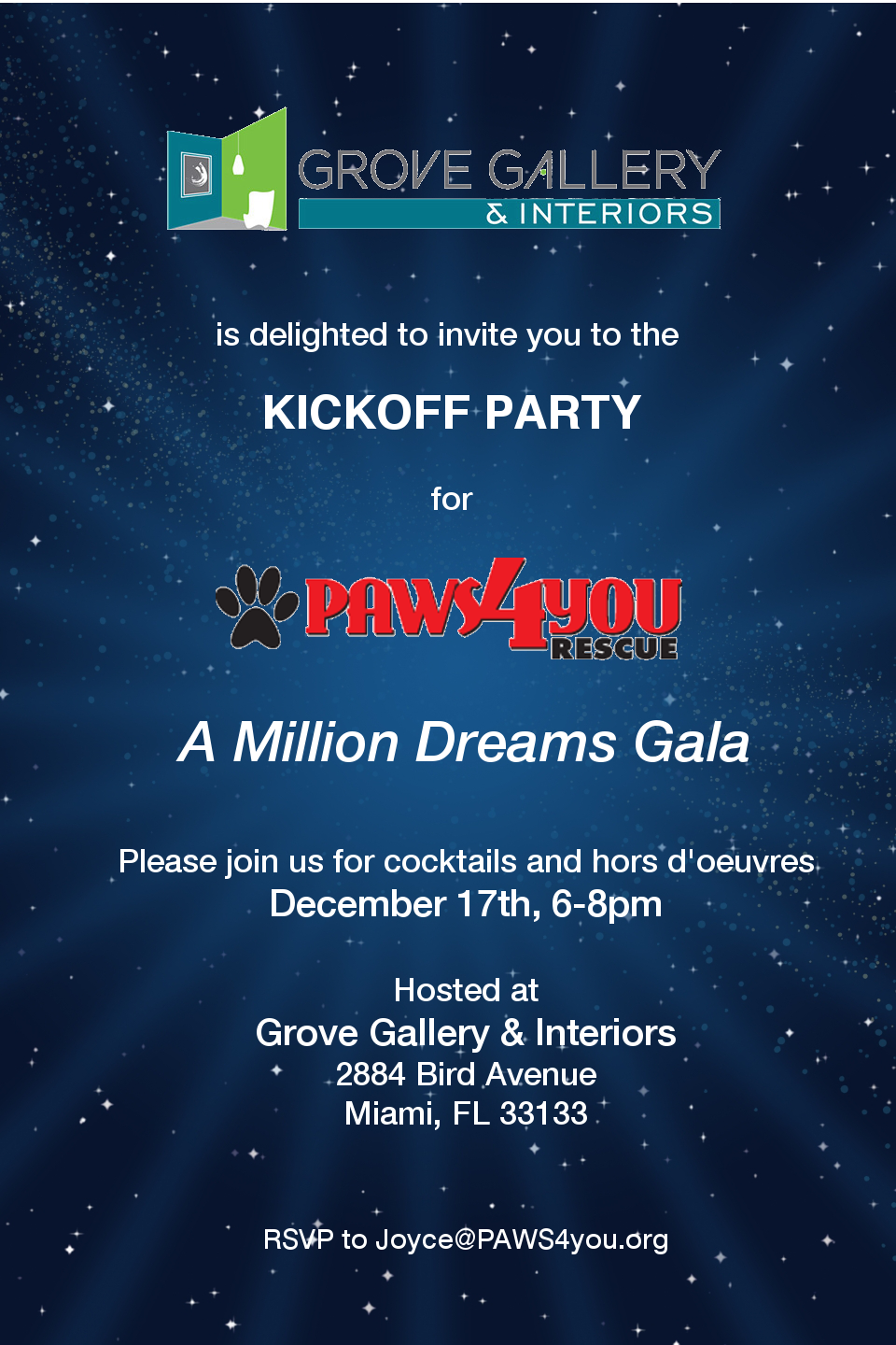 Kickoff Party at Grove Gallery & Interiors @ Grove Gallery & Interiors